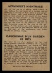 1954 Parkhurst #93   -  Harry Lumley Netminder's Nightmare Back Thumbnail