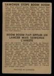 1954 Parkhurst #100   -  Terry Sawchuk / Bernard Geoffrian Sawchuk Stops Boom Boom Back Thumbnail