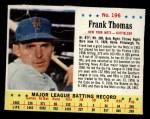 1963 Jello #196  Frank Thomas  Front Thumbnail