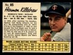 1962 Jello #85  Harmon Killebrew  Front Thumbnail