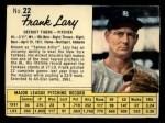 1962 Jello #22  Frank Lary  Front Thumbnail