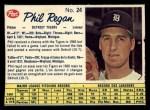 1962 Post Canadian #24  Phil Regan  Front Thumbnail