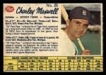 1962 Post,Canadian,Baseball #25  Charlie Maxwell  Front Thumbnail