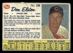 1962 Post Canadian #190  Don Elston  Front Thumbnail