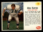 1962 Post #50  Alex Karras  Front Thumbnail