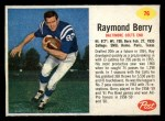 1962 Post Cereal #76  Raymond Berry  Front Thumbnail