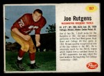 1962 Post Cereal #197  Joe Rutgens  Front Thumbnail