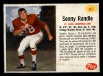 1962 Post Cereal #157  Sonny Randle  Front Thumbnail