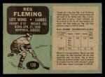 1970 O-Pee-Chee #128  Reg Fleming  Back Thumbnail