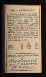 1911 T205  Charley O'Leary  Back Thumbnail