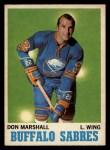 1970 O-Pee-Chee #129  Don Marshall  Front Thumbnail