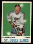 1970 O-Pee-Chee #103  Red Berenson  Front Thumbnail