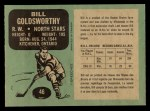 1970 O-Pee-Chee #46  Bill Goldsworthy  Back Thumbnail