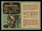1970 O-Pee-Chee #21  Roy Edwards  Back Thumbnail