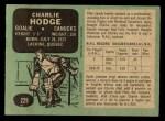 1970 O-Pee-Chee #229  Charlie Hodge  Back Thumbnail