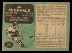 1970 O-Pee-Chee #215  Ab McDonald  Back Thumbnail