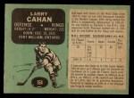 1970 O-Pee-Chee #164  Larry Cahan  Back Thumbnail