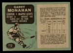 1970 O-Pee-Chee #112  Garry Monahan  Back Thumbnail