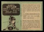 1970 O-Pee-Chee #218  Darryl Sittler  Back Thumbnail