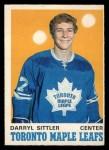 1970 O-Pee-Chee #218  Darryl Sittler  Front Thumbnail