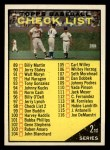 1961 Topps #98 YEL  Checklist 2 Front Thumbnail