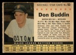 1961 Post Cereal #53 COM Don Buddin   Front Thumbnail