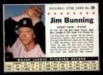 1961 Post #39 BOX Jim Bunning   Front Thumbnail