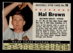1961 Post #78  Hal Brown   Front Thumbnail