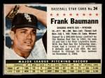 1961 Post Cereal #34  Frank Baumann   Front Thumbnail