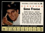 1961 Post Cereal #30 BOX Gene Freese   Front Thumbnail