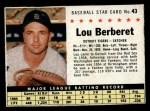 1961 Post #43 BOX Lou Berberet   Front Thumbnail
