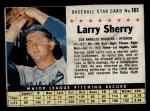1961 Post #161 BOX Larry Sherry   Front Thumbnail