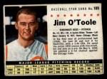 1961 Post #189 BOX Jim O'Toole  Front Thumbnail