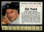 1961 Post Cereal #45  Eddie Yost   Front Thumbnail