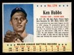 1963 Post #174  Ken Hubbs  Front Thumbnail