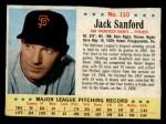 1963 Post #110  Jack Sanford  Front Thumbnail
