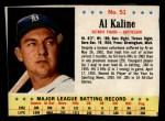 1963 Post Cereal #51  Al Kaline  Front Thumbnail