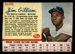 1962 Post #112  Jim Gilliam   Front Thumbnail
