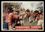 1956 Topps Davy Crockett Orange Back #17   -     Tomahawk Terror  Front Thumbnail