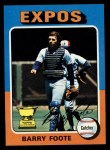 1975 Topps #229  Barry Foote  Front Thumbnail