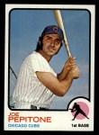 1973 Topps #580  Joe Pepitone  Front Thumbnail