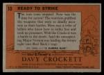 1956 Topps Davy Crockett #10   Ready to Strike  Back Thumbnail