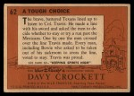 1956 Topps Davy Crockett #62   Tough Choice  Back Thumbnail