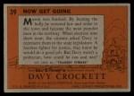1956 Topps Davy Crockett #39   Now Get Going  Back Thumbnail