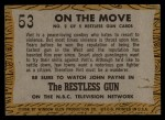 1958 Topps TV Westerns #53   On the Move  Back Thumbnail