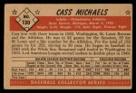 1953 Bowman #130  Cass Michaels  Back Thumbnail