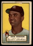 1952 Topps #366  Dave Madison  Front Thumbnail