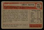 1954 Bowman #112  Andy Pafko  Back Thumbnail