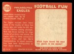 1958 Topps #109   Eagles Team Back Thumbnail