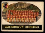 1958 Topps #27   Redskins Team Front Thumbnail
